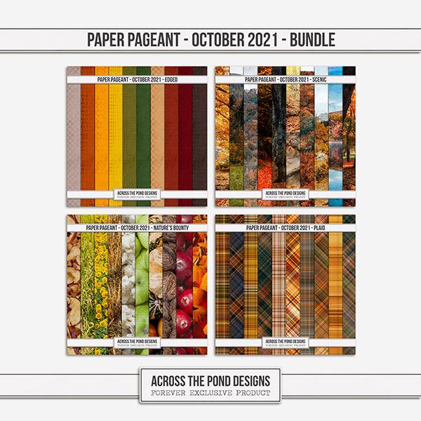Paper Pageant - October 2021 - Bundle Digital Art - Digital Scrapbooking Kits