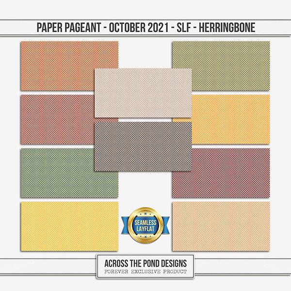 Paper Pageant - October 2021 - SLF - Herringbone Digital Art - Digital Scrapbooking Kits