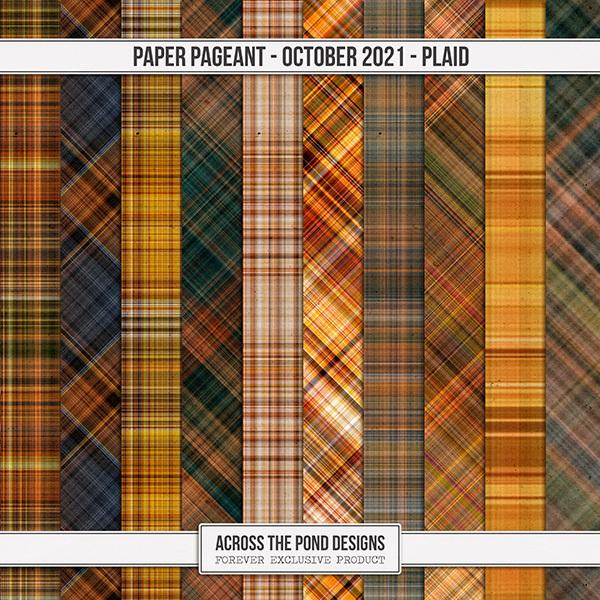 Paper Pageant - October - Plaid Digital Art - Digital Scrapbooking Kits
