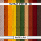 Paper Pageant - October - Edged