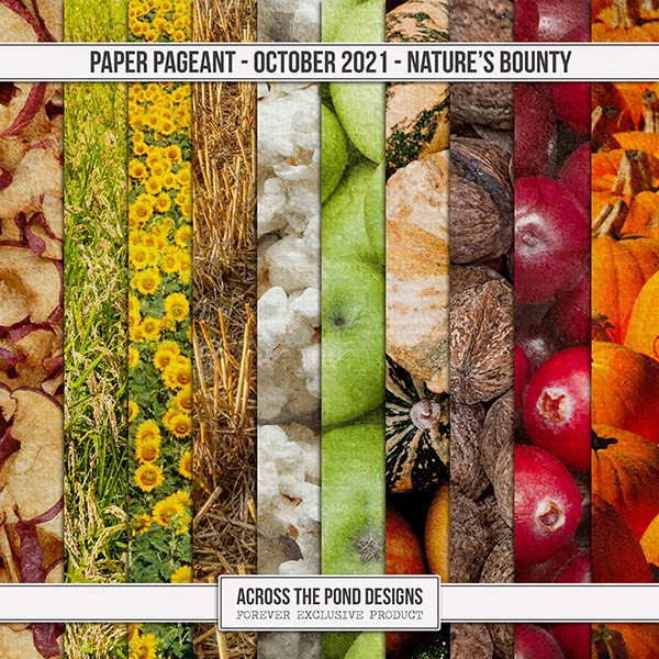 Paper Pageant - October - Nature's Bounty