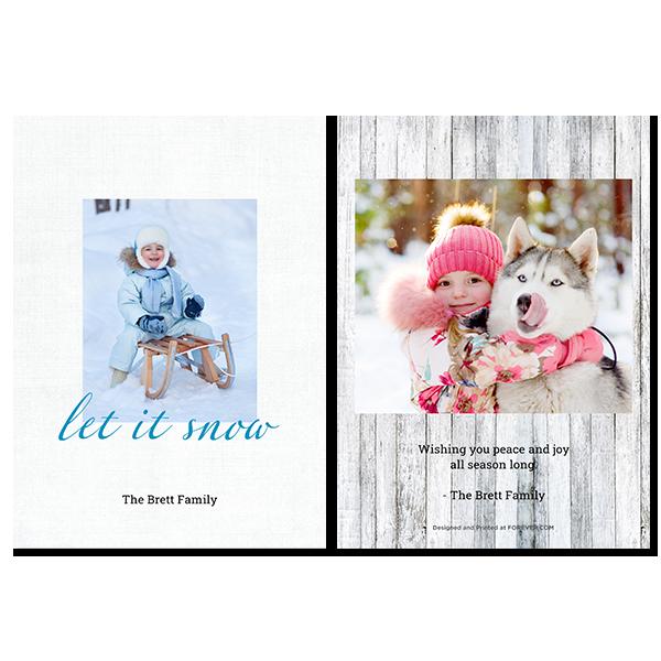 Simple Let It Snow Card