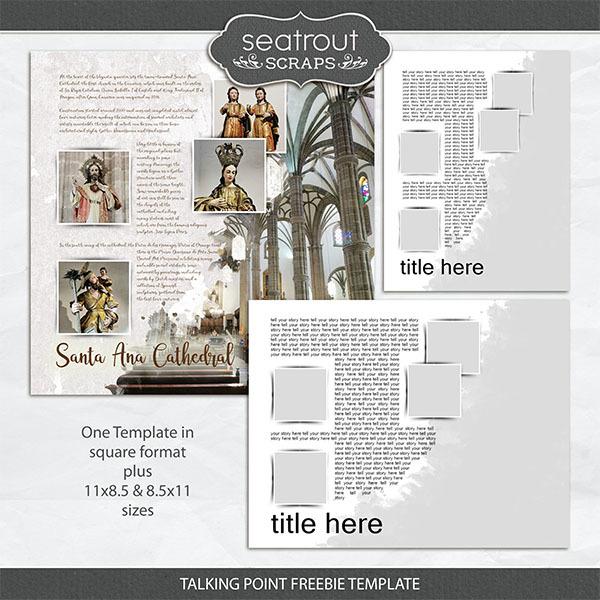 Talking Point Freebie Template Digital Art - Digital Scrapbooking Kits