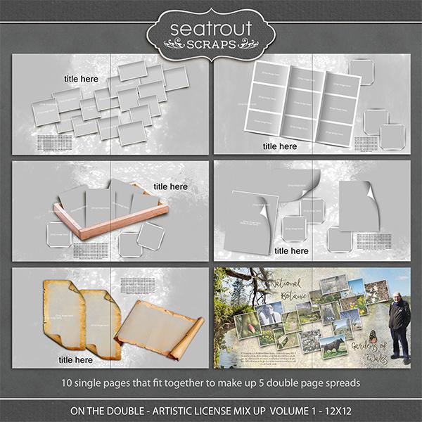 On the Double - Artistic License Mix Up Volume 1 - 12x12 Digital Art - Digital Scrapbooking Kits