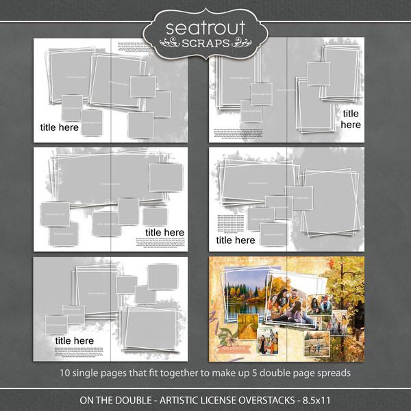 On the Double - Artistic License Overstacks - 8.5x11 Digital Art - Digital Scrapbooking Kits