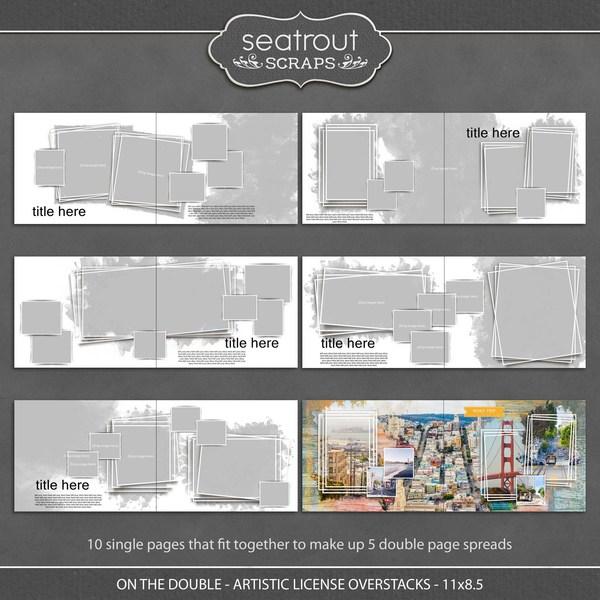 On the Double - Artistic License Overstacks - 11x8.5 Digital Art - Digital Scrapbooking Kits