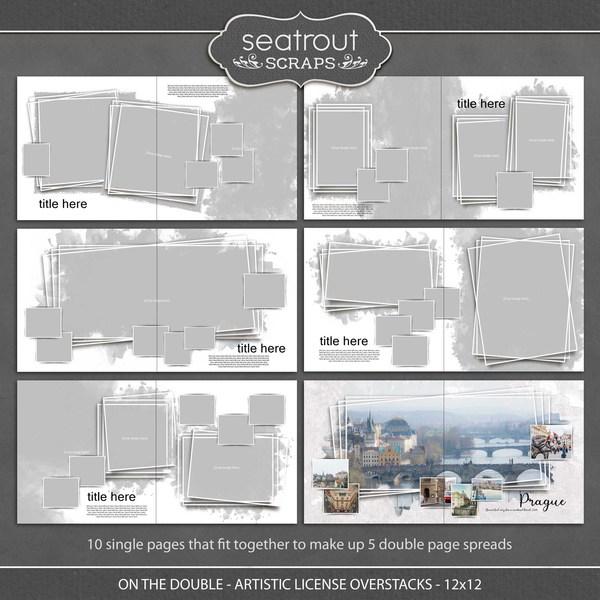On the Double - Artistic License Overstacks - 12x12 Digital Art - Digital Scrapbooking Kits