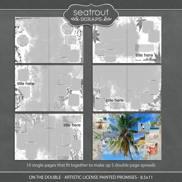 On the Double - Artistic License Painted Promises - 8.5x11 Digital Art - Digital Scrapbooking Kits