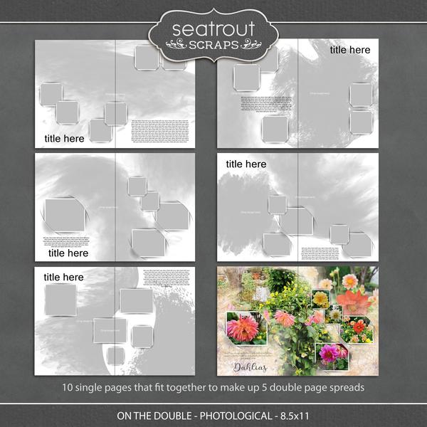 On the Double - Photological - 8.5x11 Digital Art - Digital Scrapbooking Kits