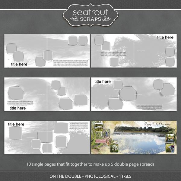 On the Double - Photological - 11x8.5 Digital Art - Digital Scrapbooking Kits