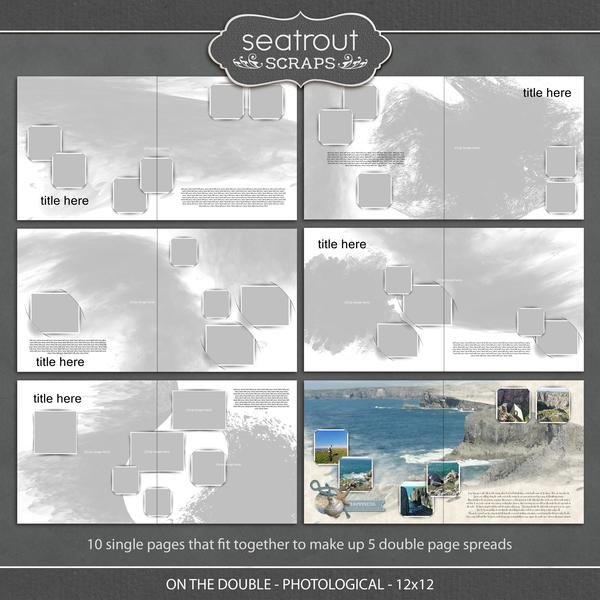 On the Double - Photological - 12x12 Digital Art - Digital Scrapbooking Kits