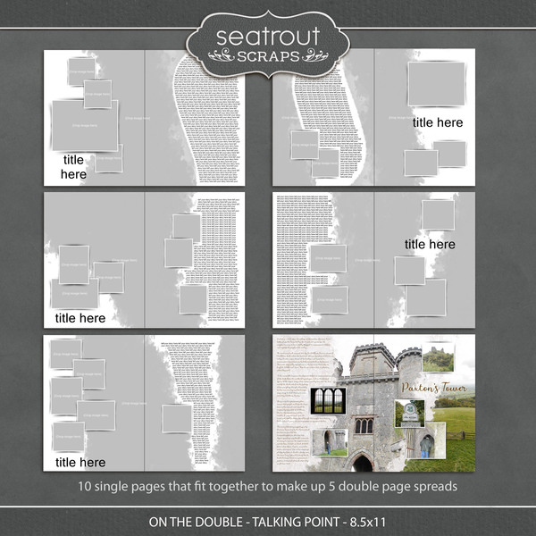 On the Double - Talking Point - 8.5x11 Digital Art - Digital Scrapbooking Kits