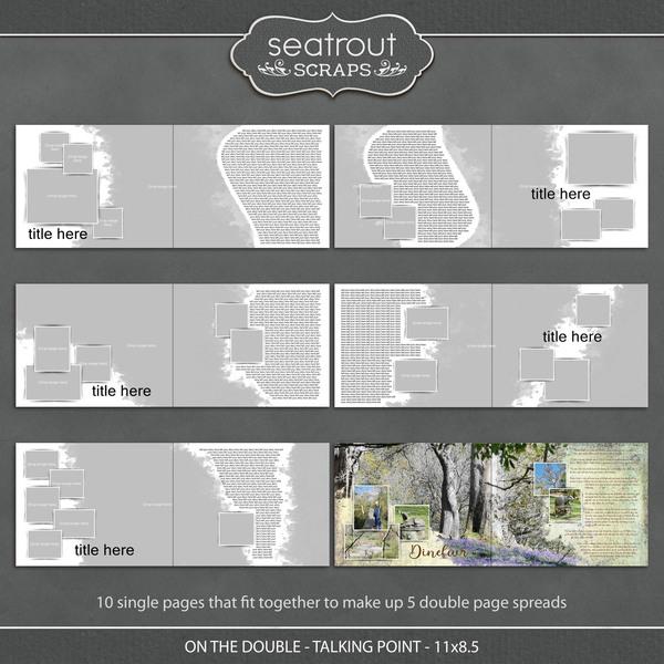On the Double - Talking Point - 11x8.5 Digital Art - Digital Scrapbooking Kits