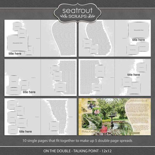 On the Double - Talking Point - 12x12 Digital Art - Digital Scrapbooking Kits