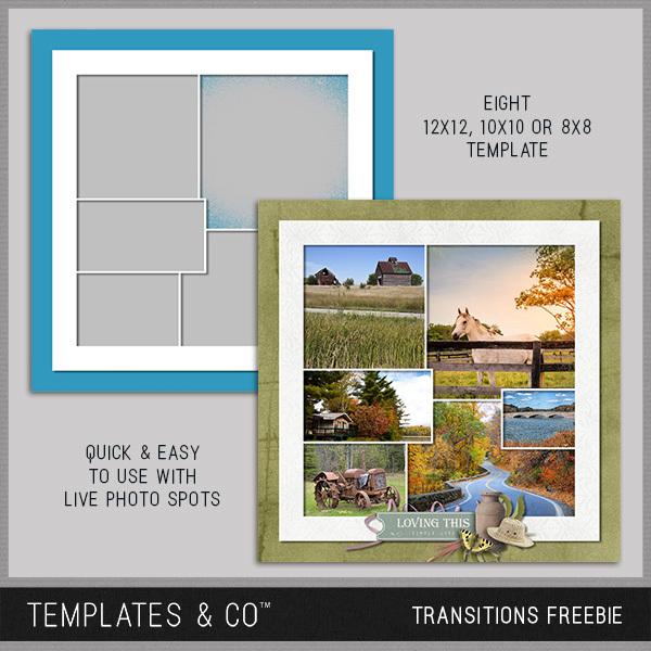 Transitions Freebie Digital Art - Digital Scrapbooking Kits