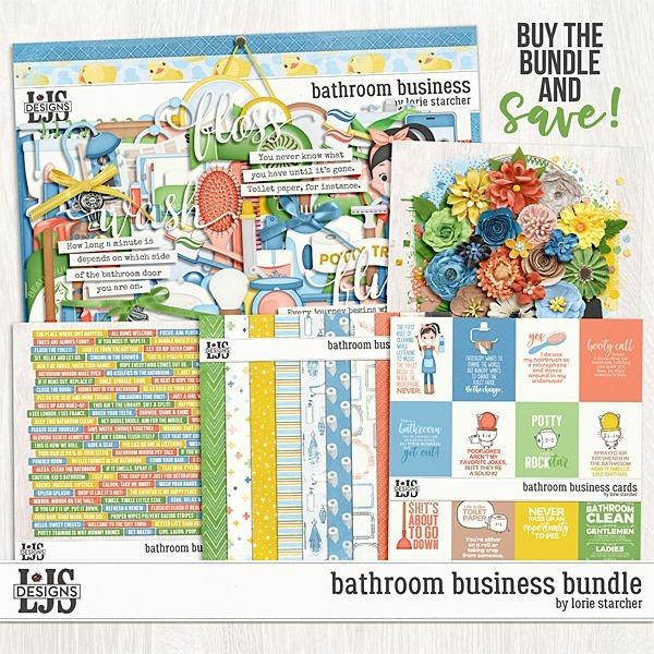 Bathroom Business Bundle Digital Art - Digital Scrapbooking Kits