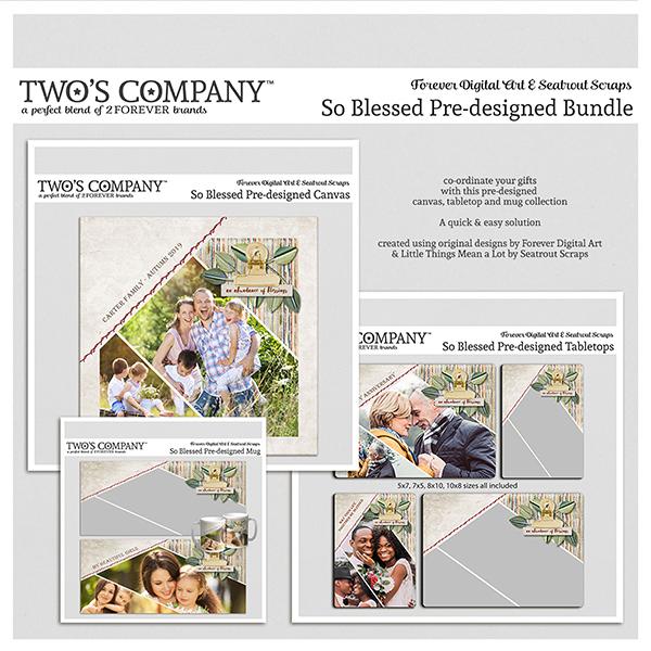 So Blessed Pre-designed Bundle Digital Art - Digital Scrapbooking Kits