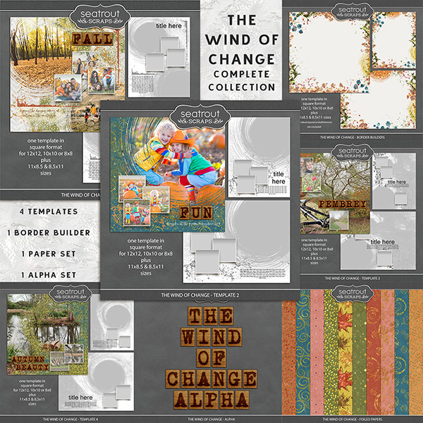 The Wind of Change - Complete Collection Digital Art - Digital Scrapbooking Kits