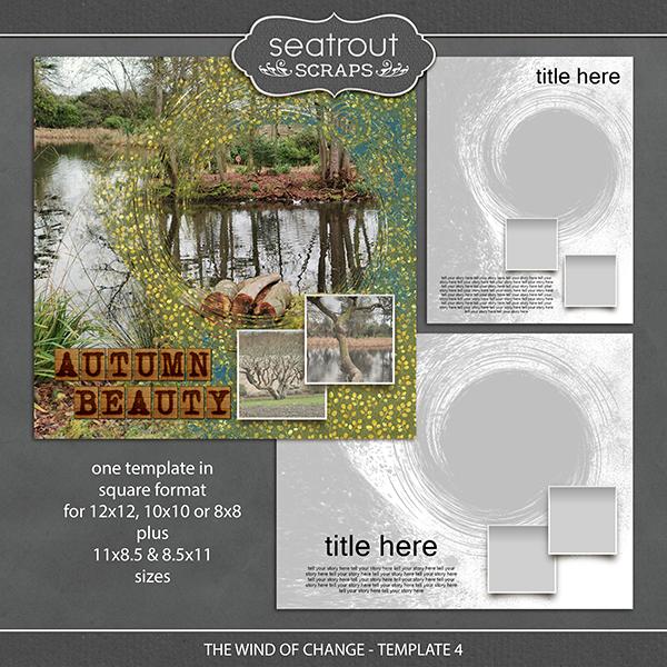 The Wind of Change - Template 4 Digital Art - Digital Scrapbooking Kits