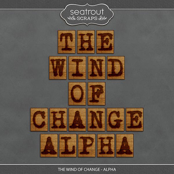 The Wind of Change - Alpha Digital Art - Digital Scrapbooking Kits