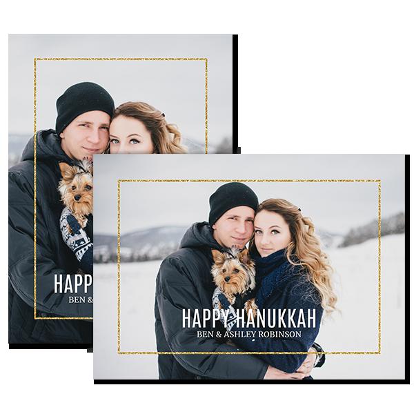 Glitzy Hanukkah Card