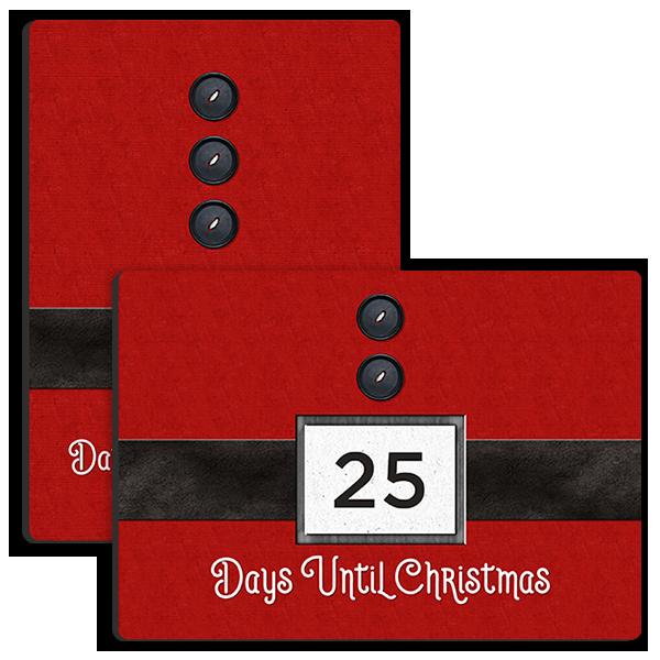 Christmas Countdown Tabletop Tabletop Panel