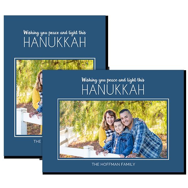 Peace and Light Hanukkah Card Card
