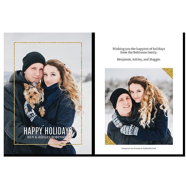 Glitzy Holiday Card