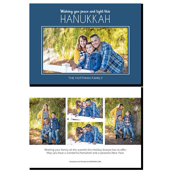 Peace and Light Hanukkah Card