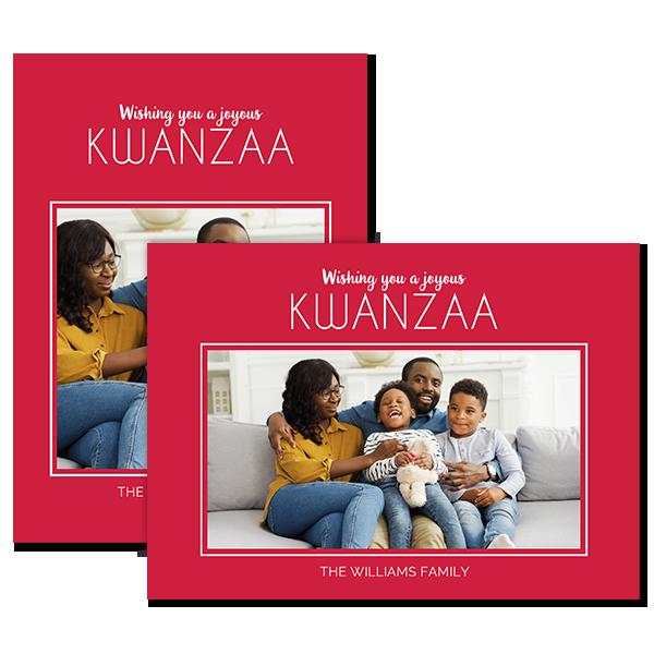 Joyous Kwanzaa Red Card Card