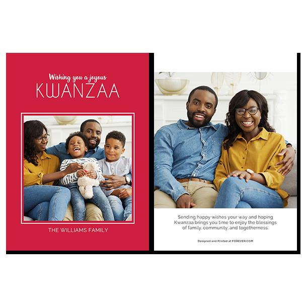 Joyous Kwanzaa Red Card