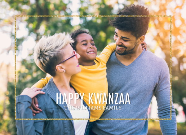 Glitzy Kwanzaa Card Card