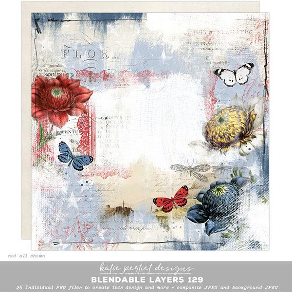 Blendable Layers 129 Digital Art - Digital Scrapbooking Kits