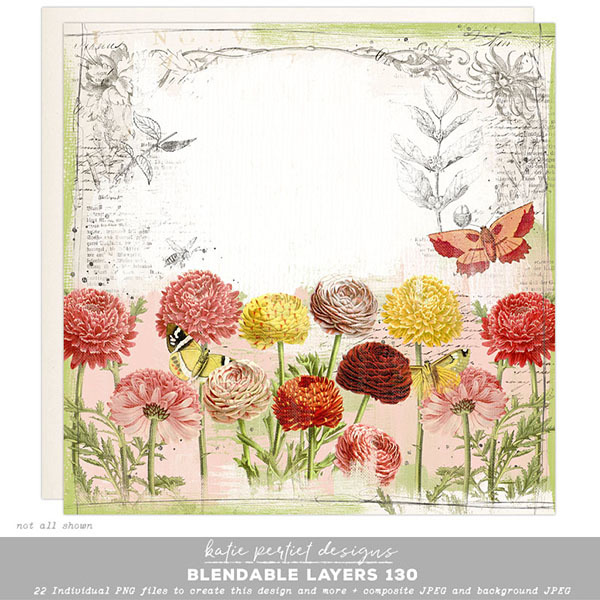 Blendable Layers 130 Digital Art - Digital Scrapbooking Kits