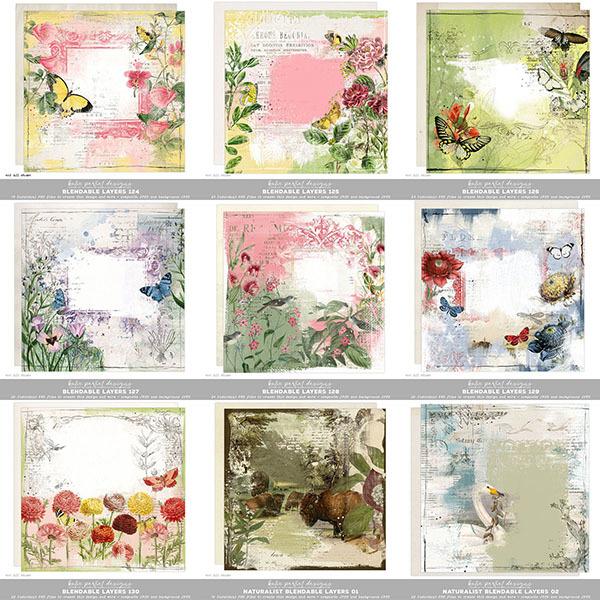 Blendable Layers Bundle 03 Digital Art - Digital Scrapbooking Kits