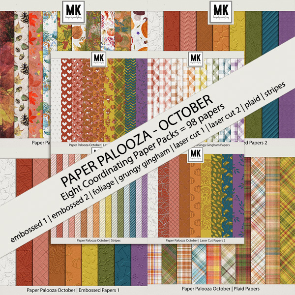 Paper Palooza October - Bundle Digital Art - Digital Scrapbooking Kits