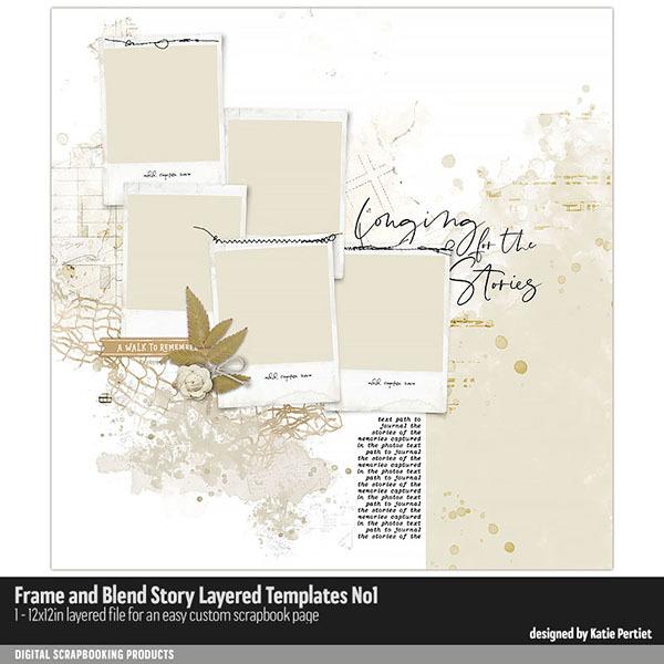 Frame and Blend Story Layered Templates 01 Digital Art - Digital Scrapbooking Kits