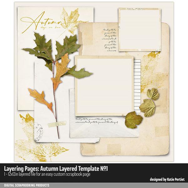 Layering Pages Autumn Layered Template 01 Digital Art - Digital Scrapbooking Kits