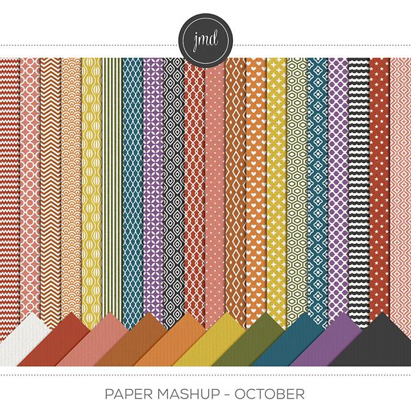 Paper Mashup - October Digital Art - Digital Scrapbooking Kits