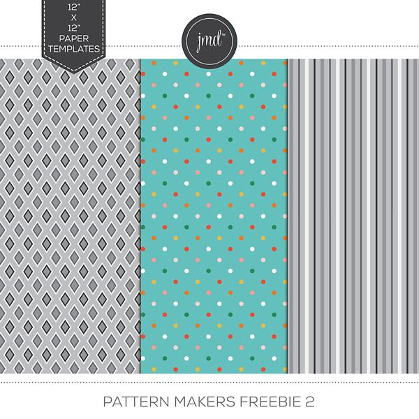 Pattern Makers Freebie 2 Digital Art - Digital Scrapbooking Kits