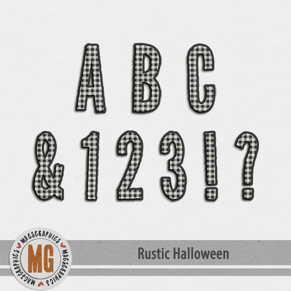 Rustic Halloween Alpha Digital Art - Digital Scrapbooking Kits