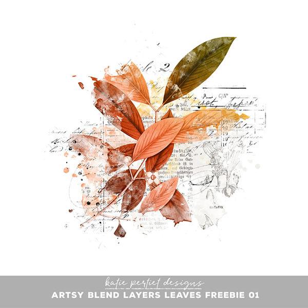 Artsy Blend Layers Leaves Freebie Digital Art - Digital Scrapbooking Kits