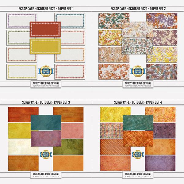 Scrap Cafe - October 2021 - Bundle Digital Art - Digital Scrapbooking Kits
