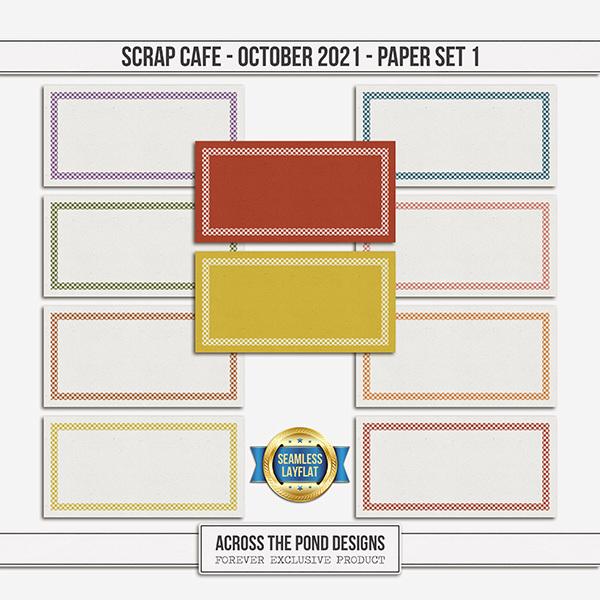 Scrap Cafe - October 2021 - Paper Set 1 Digital Art - Digital Scrapbooking Kits