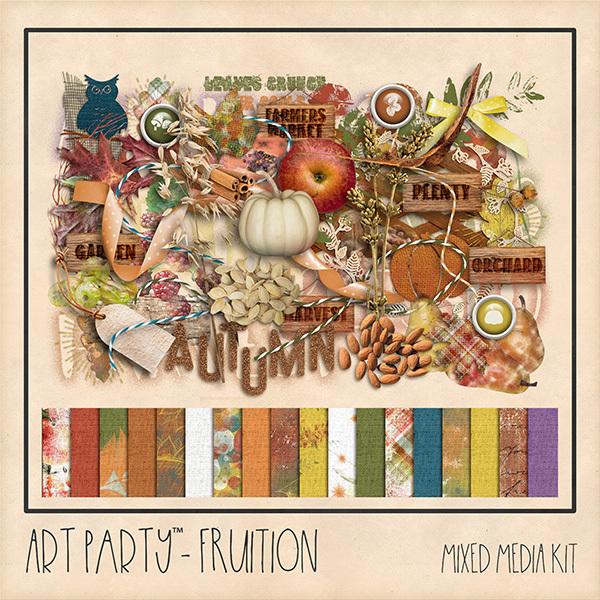 Fruition Mixed Media Kit Digital Art - Digital Scrapbooking Kits