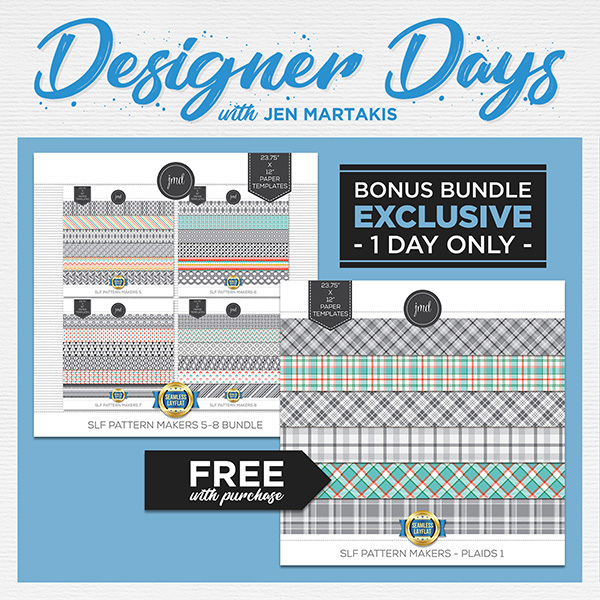 Designer Day SLF Bundle by Jen Martakis Digital Art - Digital Scrapbooking Kits