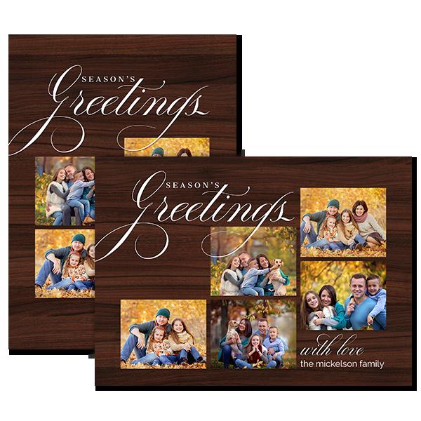 Fancy Seasons Greetings Card Card