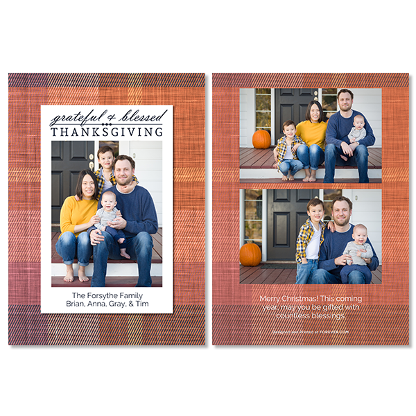 Grateful and Blessed Thanksgiving Card Card