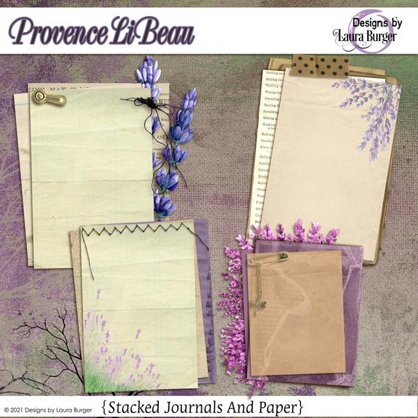 Provence Li Beau Add On With Paper Digital Art - Digital Scrapbooking Kits
