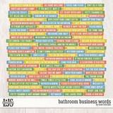 Bathroom Business Words